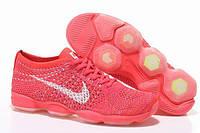 Женские кроссовки Nike Zoom Fit Agility Flyknit в коралловом цвете
