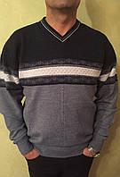 Классические турецкие полушерстяные мужские свитера больших размеров