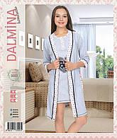 """Халат и ночная сорочка в комплекте """"Dalmina Secret"""" Турция"""
