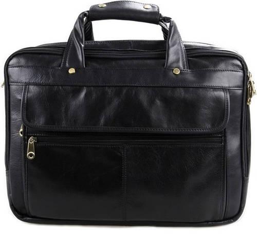 Функциональная мужская кожаная сумка Jasper & Maine 7146A