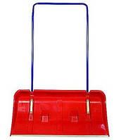 Лопата для снега с металлической ручкой и колесиками красный  460х800х1350 мм, код 99-713