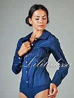 Рубашка-боди темно-синее
