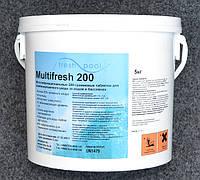 Таблетки для бассейна комбинированные по 200 гр Multifresh (Мультитаб, Multitab), 5 кг
