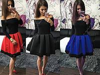 """Платье нарядное с открытыми плечами  """"КСЮША"""""""