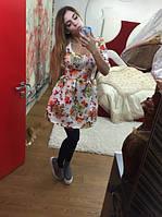 Платье Неопрен органза белое