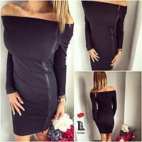 Короткое платье модель, ткань трикотаж