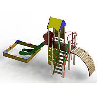 """Детская горка песочница и башня  """"Пирамида"""" для детской площадки"""