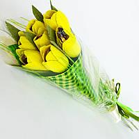 Букет из конфет. 7 солнечных тюльпанов