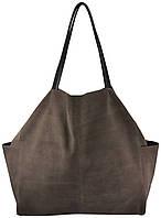 Женская замшевая сумка 8 коричневая