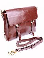 Женская кожаная сумка 30*32 см.Coffee