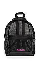 Молодежный рюкзак Poolparty в сетку(backpack-mesh-black)