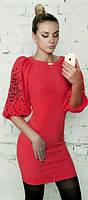 Платье женское красное облегающее (арт. 187871719)