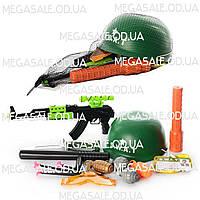Детский игровой набор военного S.W.A.T.: каска, автомат, очки, гранаты, дубинка