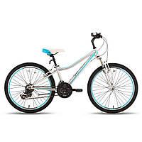 Велосипед 24'' PRIDE LANNY 21 серо-бирюзовый матовый 2016