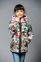 Красивая куртка для девочки на весну с рисунком