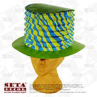"""Шляпа трансформер """"Зелёный Цилиндр"""" карнавальная, бумага. На день Святого Патрика"""