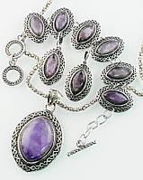 Подарочный набор украшений с аметистом