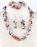 Набор украшений с натуральных камней самоцветы