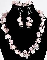 Набор с розовым кварцем