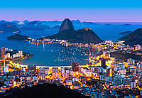 Фотообои флизелиновые Ночной Рио-де-Жанейро 366*254 Код 951