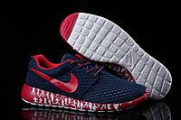 Беговые кроссовки мужские Nike Roshe Run Sculpture Black-red синие с красным