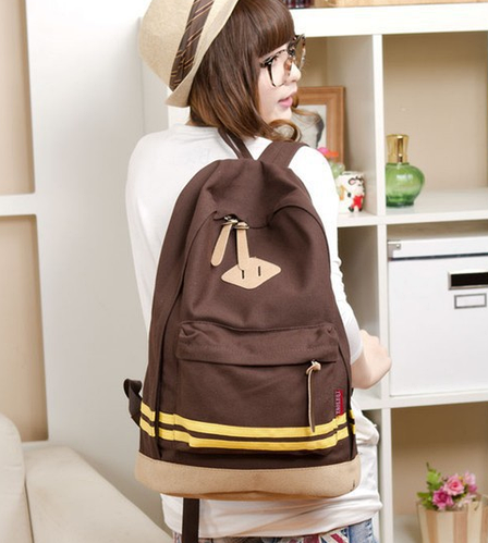 Оригинальный городской рюкзак в полоску 16 л URBANSTYLE 013, коричневый