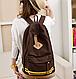 Оригинальный городской рюкзак в полоску 16 л URBANSTYLE 013, коричневый, фото 3