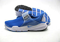Беговые кроссовки мужские Nike Air Presto New Sock Dart голубые с серым