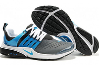 Беговые кроссовки мужские Nike Air presto серо голубые