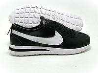 Крутые кроссовки мужские Nike Ribbon черные с белым