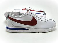Крутые кроссовки мужские Nike Ribbon белые с красным
