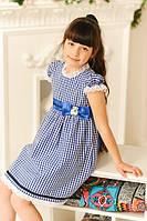 Элегантное летнее платье для девочки в клетку