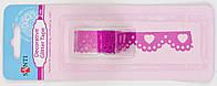 Лента самоклеющаяся блестящая Кружево с сердечком розовая, 2 м 952693