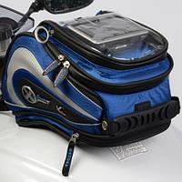 Мотосумка Oxford  синяя на бак или на хвост мотоцикла