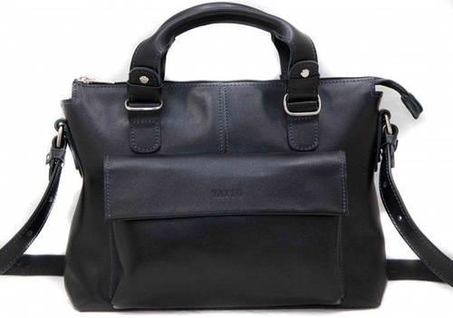 Черная стильная женская сумка из натуральной кожи VATTO Wк20Kaz1