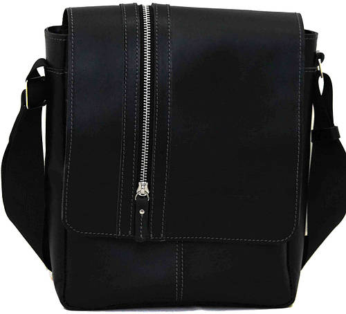 Мужская практичная сумка из натуральной кожи VATTO MK28Кaz1, черный