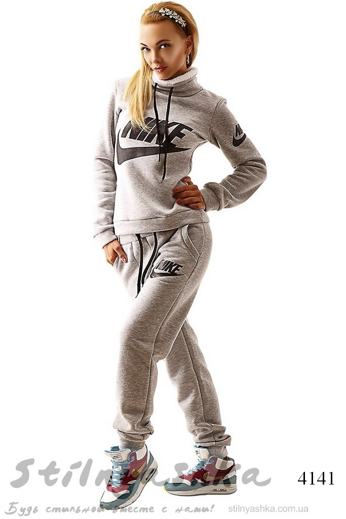Серый костюм женский купить с доставкой