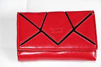 """Кожаный женский кошелек красного цвета """"PEARTEN"""""""