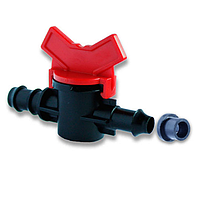 Кран стартовый с резинкой для многолетней трубы капельного полива Presto-PС ОV 0416R (50 шт в уп.)