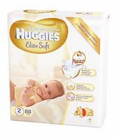 Подгузники Huggies Elite Soft Newborn 2 (4-7 кг)-88 шт