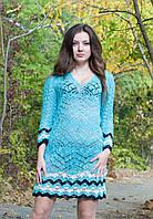 Туника -платье ажурная со шнуровкой