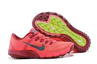 Женские кроссовки Nike Kiger корралово-салатовые