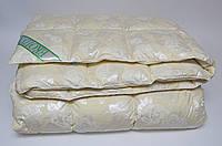 Одеяло пуховое Экопух 200х220см, 100% пуха (крем, голубое)