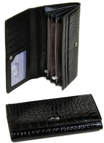 Комфортный женский кошелек Cossrol искусственная кожа WD-4 black