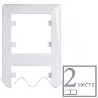 Рамка 2-кратна вертикальна Lumina-2, біла