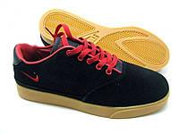 Кроссовки мужские Nike Pepper черные с красным в замше