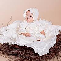 Платье Винтажное от Miminobaby кремовое от 0 до 6 месяцев