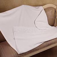 Крестильное полотенце махровое с кружевом от  Battesimo