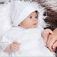 Детская шапочка-берет Винтажный от Miminobaby белый 40-44 белый