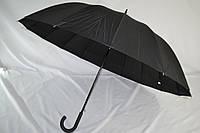 """Черный президентский зонт-трость на 16 спиц с куполом 119 см. от фирмы """"Star Rain"""""""